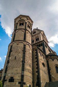 Monastery, Church, Benedictine, Maria Laach, Abbey, Sky