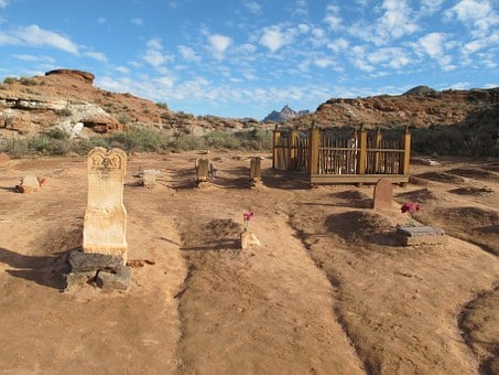 Grave, Yard, Cemetery, Old, Pioneer, Historic, Cowboys