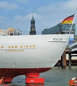 Cap San Diego, Michel, Ship Rear, Hamburg Museum Ship