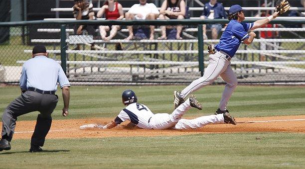 Baseball, Sliding, Action, Player, Game, Sport, Safe