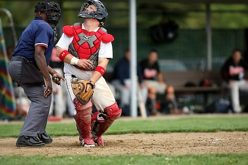 Baseball, Player, Catcher, Sport, Uniform, Field, Game