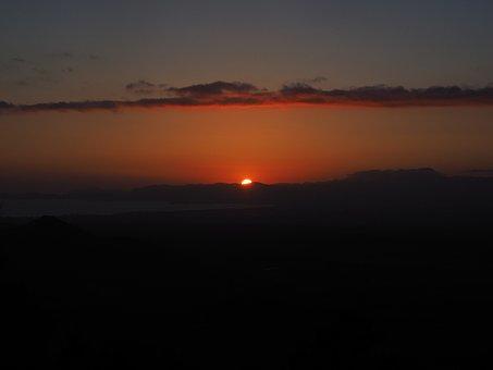 Sunset, Solar Disk, Fireball, Sun, Evening Hour, View
