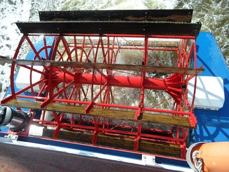 Paddle Wheel, Paddle Steamer, Wheel, Drive, Turn, Exit