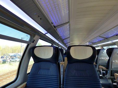 Train Ride, First Class, Sit, Upper Floor, Zugabteil