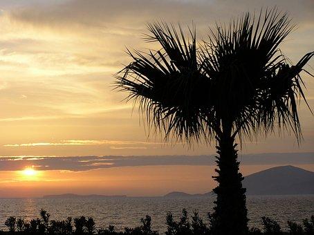 Sunset, Evening Sky, Kos, Island, Greece, Holiday, Sea