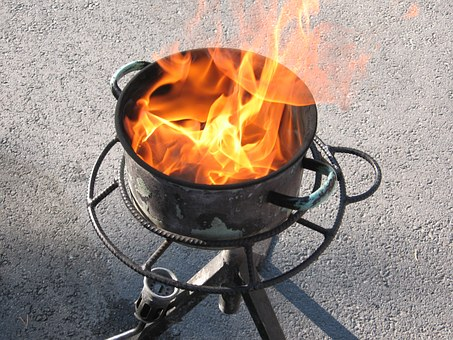Fire, Grease Casserole, Flame