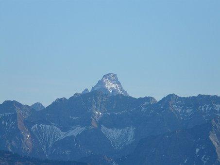 Mountains, Panorama, Hochvogel, Allgäu Alps, Germany