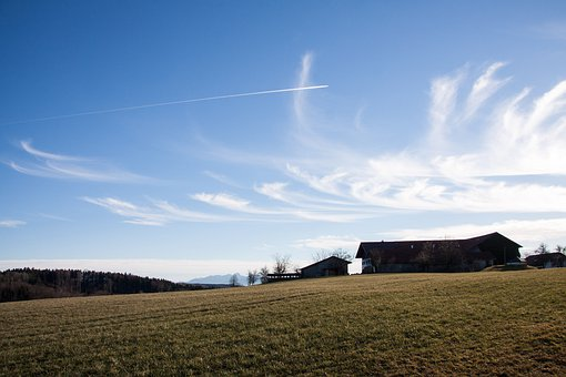 Farm, Homestead, Hair Dryer, Landscape, Mountains