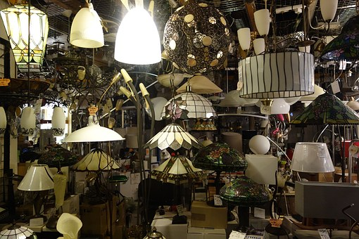 Store, Showcase, Lamps, Haarlem, Netherlands, Bulb