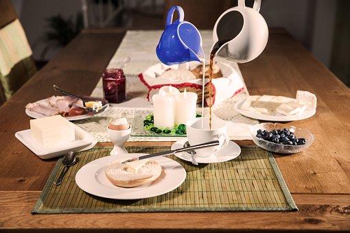 Breakfast, Breakfast Table, Coffee, Coffee Pot