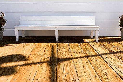 Bench, Relax, Wooden, Panels, Rough, Sun, Summer