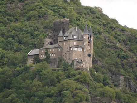 Castle, Germany, Landscape, Ages, Europe, Rio Rhin