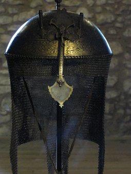 Helm, Helmet, Armor, Old, Museum, Military, Warrior