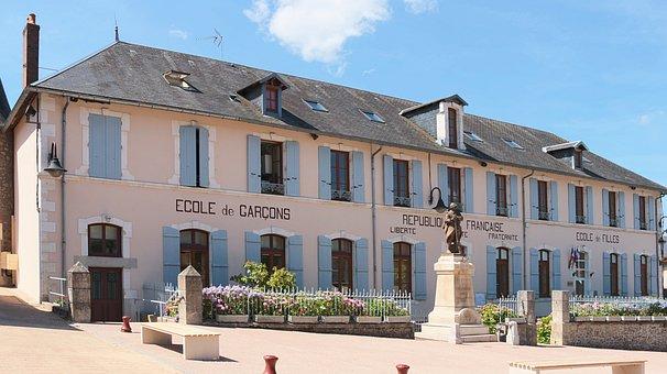 Building, Former, School, Boys, Girls, Chaumard, Nièvre