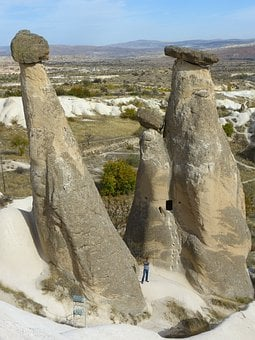 Three Graces, Tufa, Rock Formations, Landscape, Rock