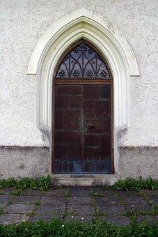Pointed Arch, Entrance Door, Door, Church Door, Home