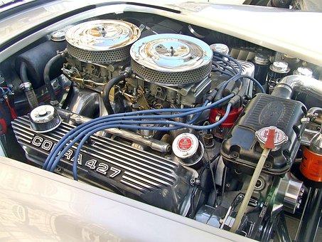 Car Engine, Tuned Engine, Ac Cobra Engine, Car, Motor