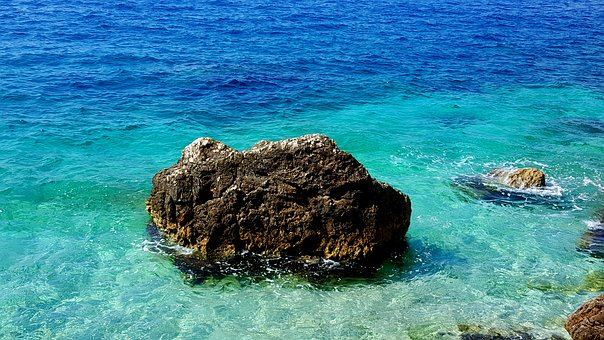 Stone, Sea, Beach, Nature, Ocean, Water, Rock, Summer