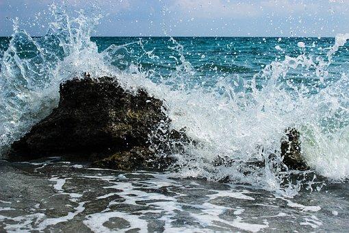 Wave, Sea, Shore, Blue, Sky, Ocean, Summer, Nature