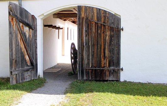Hinged Door, Wood, Goal, Input, Wood Doors, Round Arch