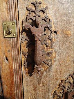 Shooter, Hinge, Lock, Door, Old, Wood, Iron, Rustic