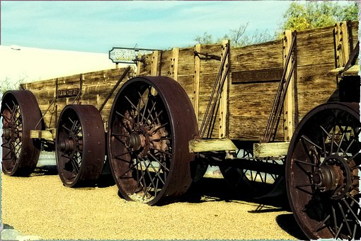 Ore, Wagon, Steam Tractor, Vintage, Mining