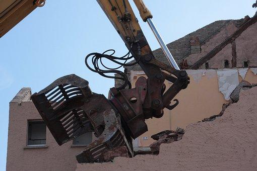 Demolition, Demolition Excavator, Ruin