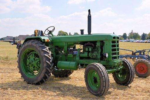 Tractor, Historically, Agricultural Machine, Oldtimer