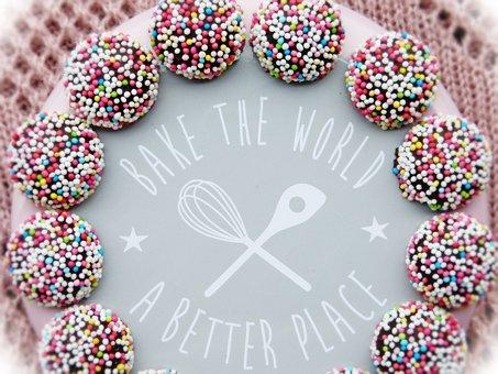 Bake, Motto, World, Improve, Sweetness, Cake, Pastries