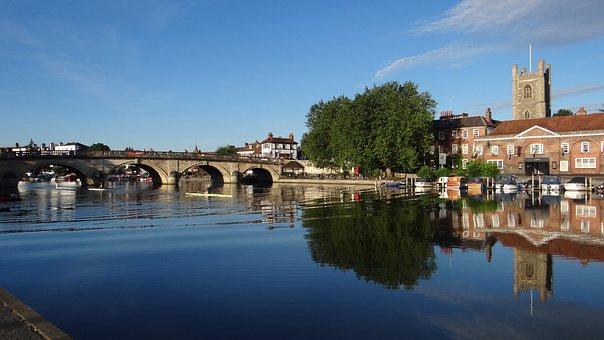 Bridge, Henley Bridge, Thames River, England, River