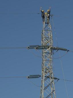 Electricians, Profession, Tower, Hv, Danger, Risk