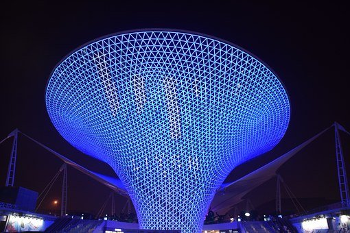 Blue Funnel, Shanghai, Expo, Exposition, Blue, Monument