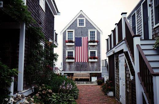 House, Flag, American, America, Usa, United States