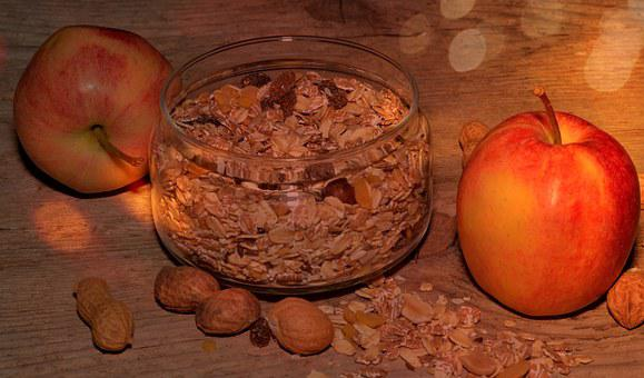 Muesli, Apple, Breakfast Cereal, Healthy, Nutrition