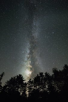 Galaxy, Landscape, Milky Way, Nature, Night, Stars