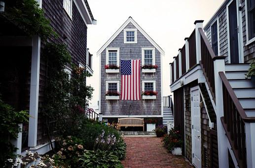 House, Flag, American, America, Usa, United States