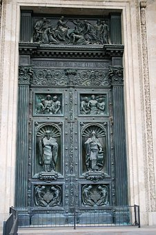 Door, Large, Tall, Heavy, Decorated, Relief, Ornate