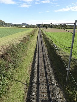 Railway Line, Gleise, Track Bed, Pebble Bed