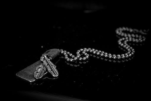 Beads, Black, Dark, Design, Dog Tag, Fashion