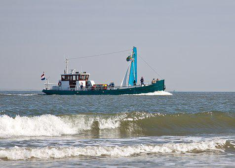 Fishing Vessel, Fang, Fischer, Fish, North Sea, Water