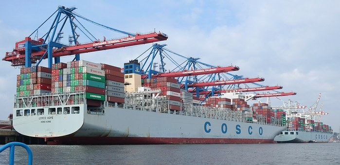 Port, Ship, Container, Hamburg, Germany, Loading