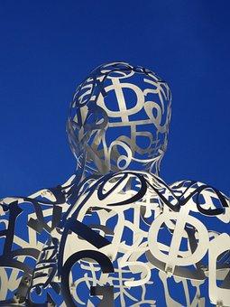 Tokyo, Sculpture, Toranomon, Alphabet, Humanoid, Japan