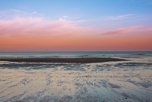 Sunrise, Callantsoog, Netherlands, Beach, Mood, Rest