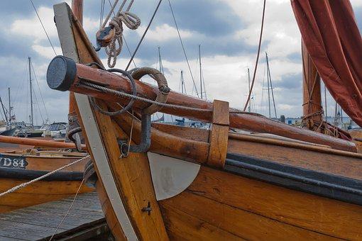 Hozboot, Holland, North Sea, Fish, Sailing Boat, Sail