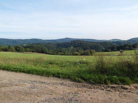 Odenwald, Landscape, Hill, Background, Sky, Gentle