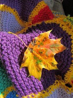 Autumn Leaf, Fall Colors, Autumn, Season, Cosy, Blanket