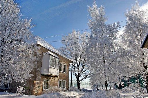 Russian Winter, Beauty, Nature, Winter, Snow, Village