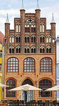 Gable House, Greifswald, Market, Clinker, Baltic Sea