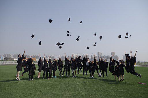 University Student, Graduation, Jump, Joke, By, Happy
