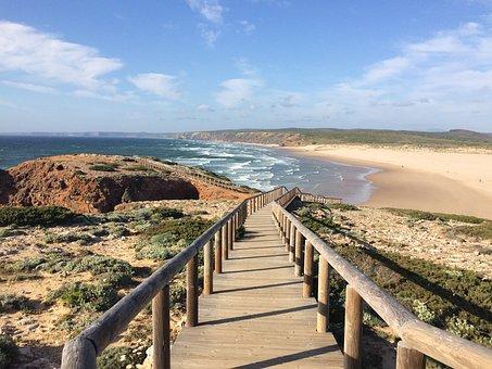 Path, Trail, Sea, Sand, Beach, Nature, Landscape